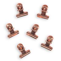 6 pinces clip magnétique en métal Cuivre