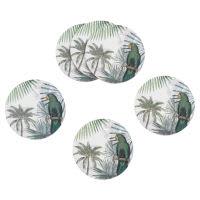 6 Untersetzer bedruckt mit tropischem Motiv