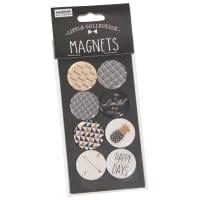 BLACK BULLE - Lot de 2 - 8 magnets