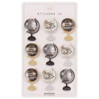 9 Sticker 3D-Globen
