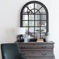 Aged Effect Black Fir Mirror 91x131 Brabant