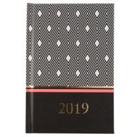 Agenda 2019 de papel con motivos gráficos