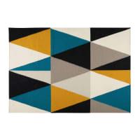 Alfombra con motivos de triángulos multicolores 200x140 cm Archi