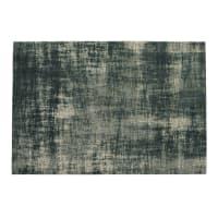 Alfombra de algodón azul 155 x 230 cm Feel Azur