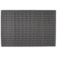 Alfombra de exterior blanca/negra de polipropileno 120×180 Kamari