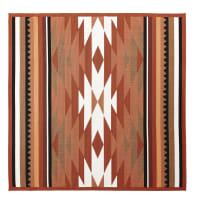 Alfombra de exterior color terracota con motivos decorativos 200x200 Pria