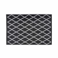 Alfombra de jardín con motivos geométricos en blanco y negro 120x180 Losia