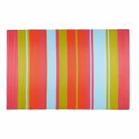 Alfombra de jardín de tela a rayas multicolores 180x270 Guaritito