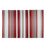 Alfombra de jardín de tela a rayas rojas y blancas 180x270 Espelette