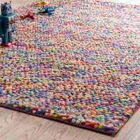 Alfombra de lana de colores 140 x 200cm Rainbow