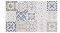 LISBOA - Alfombra de vinilo con motivos decorativos de azulejos de cemento multicolores 50x80