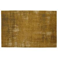 Alfombra mostaza de algodón 140 × 200cm Feel