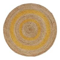 GANA - Alfombra redonda de yute trenzada bicolor D. 100