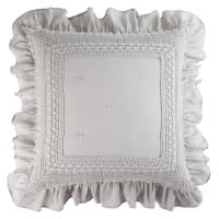 ELISABETH - Almofada de algodão cinzenta 60x60