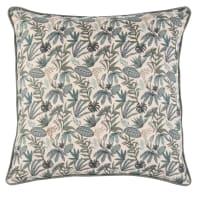 VALGAS - Almofada de linho lavado com motivo vegetal 45x45