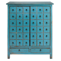 Antique blue pine 2-door, 2-drawer cabinet Baho