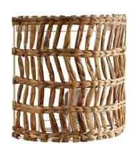 CANGGU - Applique en fibre végétale tressée et métal blanc