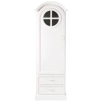 Armario ropero de blanco con 1 puerta y 2 cajones Marguerite