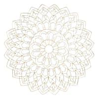 Arredo da parete mandala in fili di metallo dorato 80 cm Mandalor