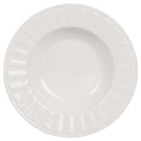 Assiette creuse en porcelaine blanche  Charlotte
