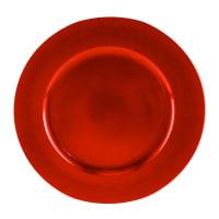 Lot de 6 - Assiette de présentation rouge