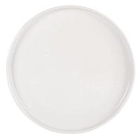 COLORADO - Lot de 6 - Assiette plate en grès blanc