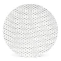 Assiette plate en porcelaine blanche/noire D 27 cm Graphique