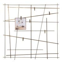 MOKABOKA - Asymmetrisch fotoframe van bronskleurig metaal 60x60
