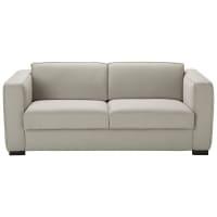 Ausziehbares 3-Sitzer-Sofa aus Baumwolle, hellgrau Berlin