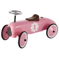 Auto cavalcabile rosa in metallo L 76 cm Vintage