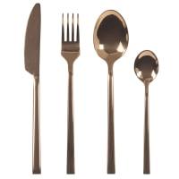 24-piece set of copper-coloured steel cutlery Baden