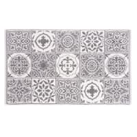 Badvorleger aus Baumwolle mit Zementfliesen-Muster 50x80