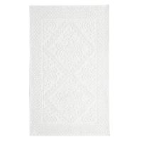 Badvorleger aus geknüpfter Baumwolle, weiß 50x80 Antique