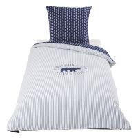 Baumwollbettwäsche für Kinder, blau 140x200 Happy Camper