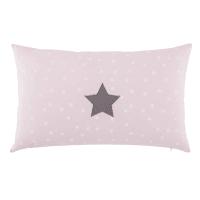 Baumwollkissen mit rosa Druckmotiv 50 x 30 cm Zoé