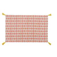 Baumwollteppich mit Dreieckmuster rosa 120 x 180 cm Alix