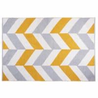 Baumwollteppich mit mehrfarbigen grafischen Motiven 180x120 Joy