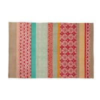 Baumwollteppich mit mehrfarbigen Mustern, 120x180 Pinkplanet