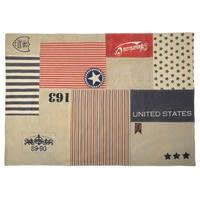 Baumwollteppich US Vintage in Patchwork-Optik, 140 x 200 cm