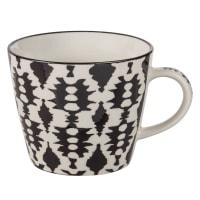 Becher aus Keramik mit schwarzen Motiven Esmeralda