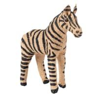 Beeldje van zebra in katoen en staal H16 Zambe