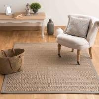 Beige gevlochten sisal  tapijt 160 x 230 cm Bastide