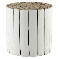 Beistelltisch  aus Holz, D 41 cm, weiß Didda
