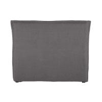 Bett-Kopfteilbezug 140cm aus grobem Leinen grau Morphée