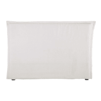 Bett-Kopfteilbezug 160 aus grobem Leinen weiß Morphée
