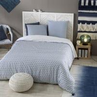 Bettwäschegarnitur aus Baumwolle mit blauen Motiven 240x260