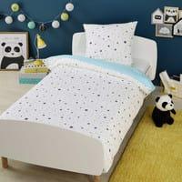 Bettwäschegarnitur für Kinder 140 x 200 cm aus Baumwolle Graphikids
