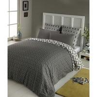 Bettwäschegarnitur  aus Baumwolle, 220x240, grau Maloni