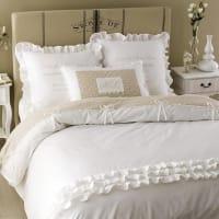 Bettwäschegarnitur  aus Baumwolle, 240 x 260 cm, weiß Sans Souci