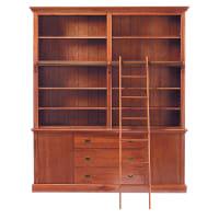 Bibliothèque 3 tiroirs 2 portes avec échelle Voyage